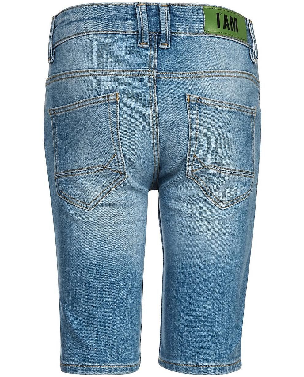 Shorts - Aqua - Recycelte Denim-Shorts